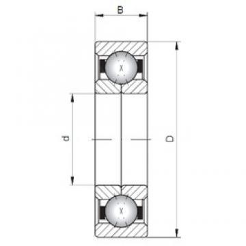 ISO QJ215 angular contact ball bearings