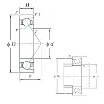 15 mm x 35 mm x 11 mm  KOYO 7202 angular contact ball bearings