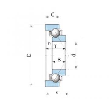 NSK BA260-6 angular contact ball bearings