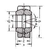 35 mm x 55 mm x 25 mm  FBJ GE35ES plain bearings
